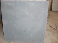 Blue stone scraped