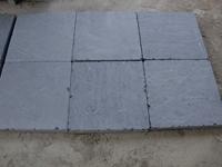 Blue stone tumbled